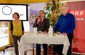 Start Pressekonferenz mit ORF-Generaldirektor Alexander Wrabetz, DI Dr. Hildegard Aichberger, Geschäftsführerin von MUTTER ERDE, und Mag. Alexander Egit, Vorstand von MUTTER ERDE und Greenpeace-Geschäftsführer.