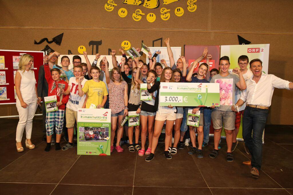 Klimaschutz: Sieger Klimaschutzpreis Junior 2016 NMS Eberstalzell. Foto Credit ORF