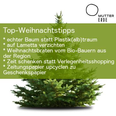 WWF und MUTTER ERDE: Tipps für ein ökologischeres Weihnachten